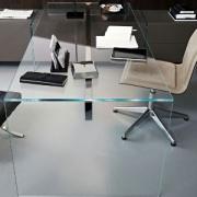 میز مدیریت مدرن شیشه